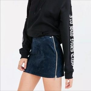 OBEY Blue Suede Mini Skirt